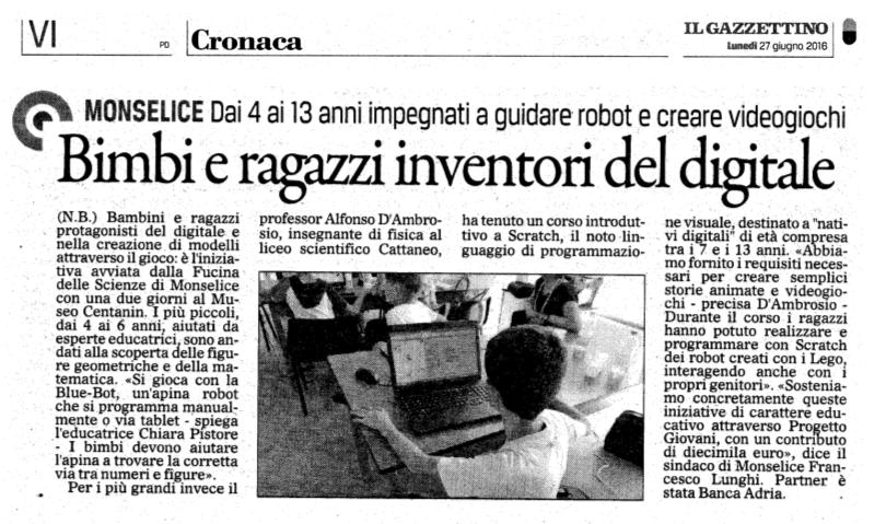 2016-06-24 - Summer school - ilgazzettino