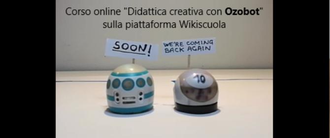 Corso Ozobot su Wikiscuola