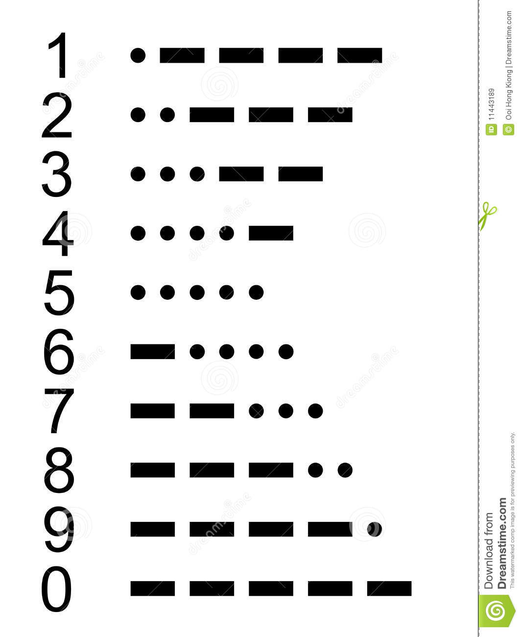 http://www.dreamstime.com/royalty-free-stock-images-morse-code-number-0-9-image11443189